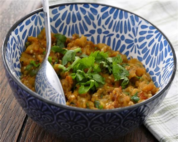 Baingan Bartha-Roasted Eggplant Curry
