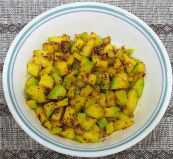 Raw Mango Fenugreek Salsa