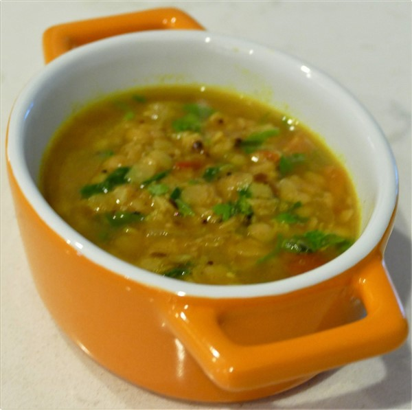 Tempered Yellow Lentil Soup