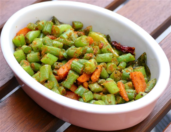 Carrot, Green Bean, Coconut Sauté