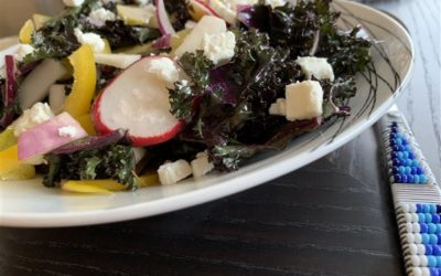 Kale-Pear-Turnip-Goat Cheese Salad