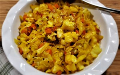 Cabbage & Carrot Masala