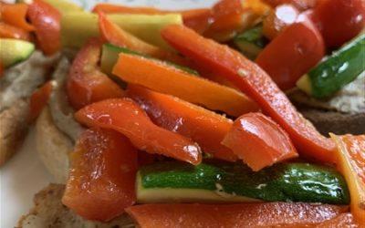 The BEST Open-Faced Veggie Sandwich!